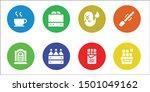 dark icon set. 8 filled dark... | Shutterstock .eps vector #1501049162