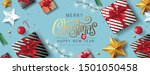 merry christmas and happy new... | Shutterstock .eps vector #1501050458