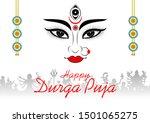illustration of goddess durga...   Shutterstock .eps vector #1501065275