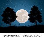 night vector landscape full... | Shutterstock .eps vector #1501084142