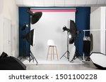 Photo Studio Interior With Set...