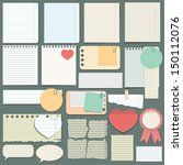 vector set of different paper.... | Shutterstock .eps vector #150112076
