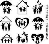 big set of family icons. happy... | Shutterstock .eps vector #150112118