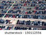 aerial view of airport crowded... | Shutterstock . vector #150112556