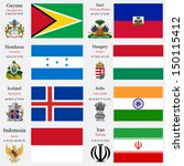 world flags of guyana  haiti ... | Shutterstock . vector #150115412