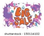 big sale vector promo vintage... | Shutterstock .eps vector #150116102