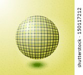 ball with the texture of fabric | Shutterstock .eps vector #150117212