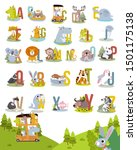 animal alphabet graphic a to z. ...   Shutterstock .eps vector #1501175138