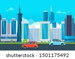 modern high rise city... | Shutterstock .eps vector #1501175492