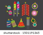 Fire Crackers Vector Icon Set....