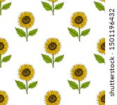 seamless pattern with yellow... | Shutterstock .eps vector #1501196432
