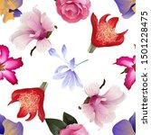 Purple Orchid. Pink Adenium....