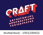 vector of stylized modern font... | Shutterstock .eps vector #1501230422