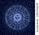 vector circle of the zodiac... | Shutterstock .eps vector #1501246232