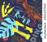 jurassic period  dinosaur...   Shutterstock . vector #1501257035
