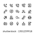 simple set of communication...   Shutterstock .eps vector #1501259918