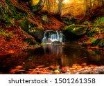 Small Creek Waterfall In A...