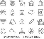 Stock vector set of pet icons dog cat puppy animals 1501261832
