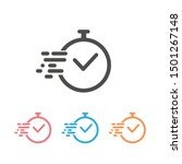 time icon set vector. fast time ... | Shutterstock .eps vector #1501267148