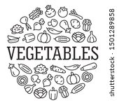 set of vegetables color icons...   Shutterstock .eps vector #1501289858