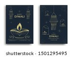 happy diwali festival greeting... | Shutterstock .eps vector #1501295495