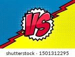 comic book versus template... | Shutterstock .eps vector #1501312295