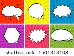 retro comic empty speech... | Shutterstock .eps vector #1501313108