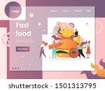 fast food vector website...   Shutterstock .eps vector #1501313795