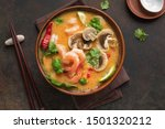 Tom Yum Kung Soup  Top View ...