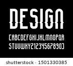 vector of stylized modern font... | Shutterstock .eps vector #1501330385
