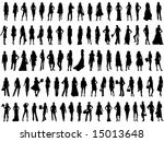 fashion silhouettes | Shutterstock .eps vector #15013648