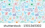 pattern  sketch  drawings ... | Shutterstock .eps vector #1501365302