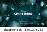 merry christmas sale banner ... | Shutterstock .eps vector #1501376252