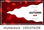 autumn sale banner background... | Shutterstock .eps vector #1501376258