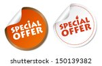 special offer stickers | Shutterstock .eps vector #150139382