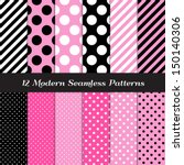 angular,background,big,black,candy stripe,card,chic,circles,decor,decoration,deep pink,diagonal,dots,french,geometric
