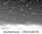 vector snow background  snow... | Shutterstock .eps vector #1501418378