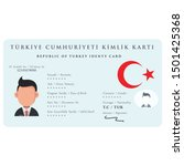 turkish identity card... | Shutterstock .eps vector #1501425368