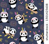 seamless childish pattern with... | Shutterstock .eps vector #1501425608