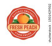 Fresh Peach Farm Logo Template