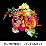 ilustration isolated on black. ...   Shutterstock .eps vector #1501432595
