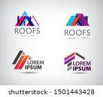 vector set of roof logos  house ... | Shutterstock .eps vector #1501443428