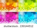 realistic bokeh lights   set of ...   Shutterstock .eps vector #150144512