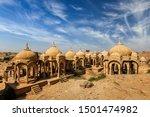 Bada Bagh ancient cenotaphs. Jodhpur, Rajasthan, India