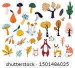 hand drawn big vector set of... | Shutterstock .eps vector #1501486025