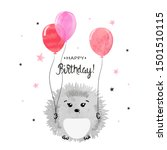 happy birthday greeting card... | Shutterstock .eps vector #1501510115