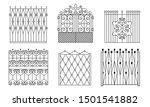 decorative black wrought iron...   Shutterstock .eps vector #1501541882