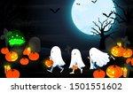 halloween night trick or treat ... | Shutterstock .eps vector #1501551602