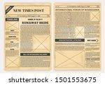 vintage newspaper. old... | Shutterstock .eps vector #1501553675
