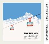 vintage winter background ... | Shutterstock .eps vector #1501568195